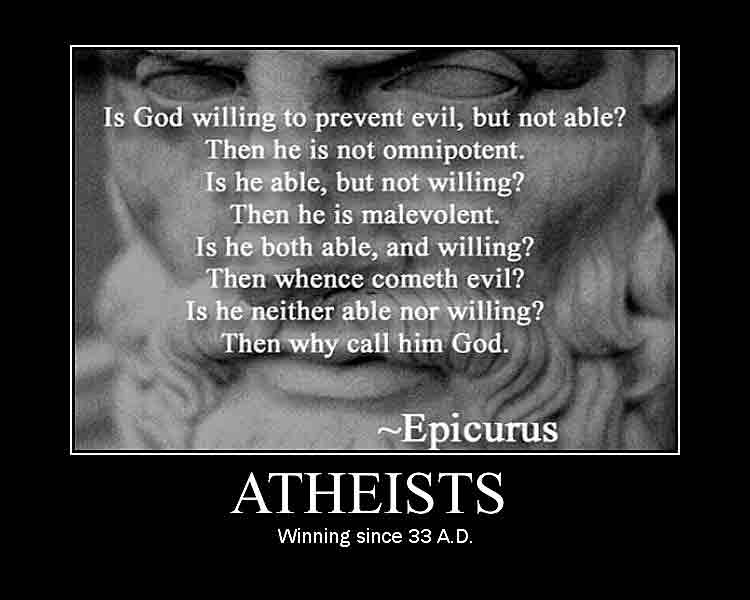 Atheists win.
