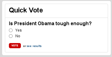 Quick - Is Obama tough enough?